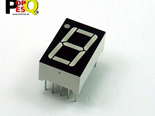 POPESQ® 1 Piezas x 7-Segment Display 14.2mm 1 Digito Comun Anodo Azul / 1 pcs. x 7-Segment Display 14.2mm 1 Digit Common Anode Blue #A2315