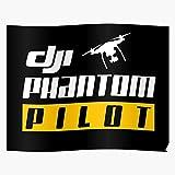 Ocean Black Phantom Pilot Red Remote Helicopter DJI Control l'affiche de décoration d'intérieur la Plus impressionnante et élégante Disponible actuellement