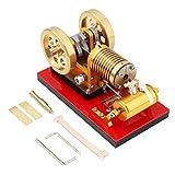 Batop Stirlingmotor Bausatz mit Saugfeuer Metal Stirling Engine Kit Stirlingmotor Modell DIY Physik Experimentieren Unterricht Spielzeug - Hochwertiges Geschenk -