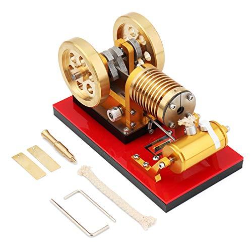 Batop Stirlingmotor Bausatz mit Saugfeuer Metal Stirling Engine Kit Stirlingmotor Modell DIY Physik Experimentieren Unterricht Spielzeug - Hochwertiges Geschenk