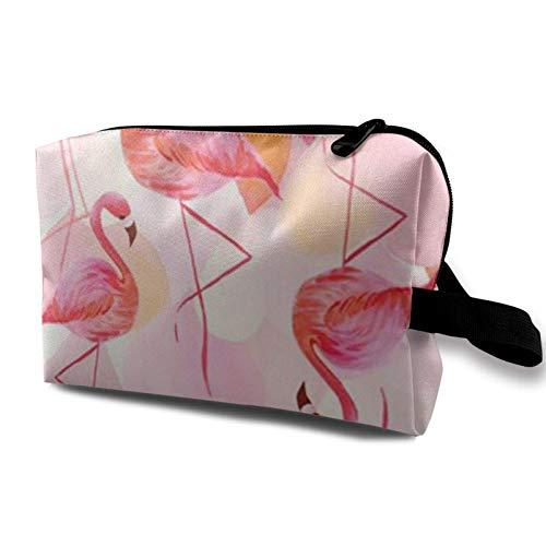 XCNGG Bolsas de maquillaje para mujeres y niñas, bolsa de cosméticos de moda, neceser de viaje lindo con logotipo de flamenco, genial
