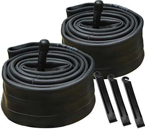 YunSCM 2Pack 26x1.75/1.90/1.95 Bike Inner Tubes Replacement for 32mm Schrader Valve MTBBike Inner Tubes Durable Butyl Rubber Bike Tires