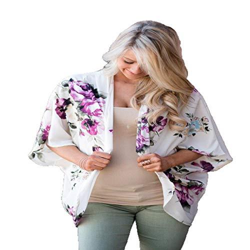 Camisa de protección Solar Estampada para Mujer y Blusa de protección Solar Tipo Chal