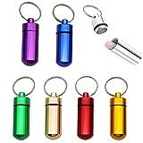 Her Kindness Mini Pillen dose Pillen Box Schlüsselanhänger Wasserdichte aus Aluminium(7 pack)