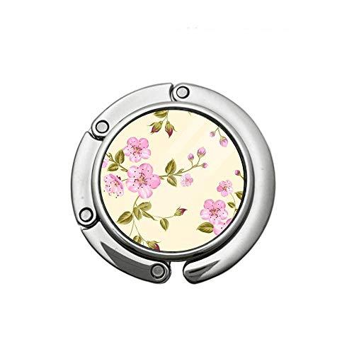 Charmful Cherry Blossom Monedero Ganchos Plegable Bolso...