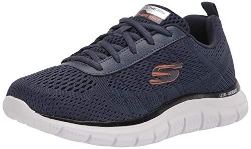 Skechers Sport Track-Moulton Running - Zapatillas para hombre, azul (Azul marino/ Anaranjado), 44 EU