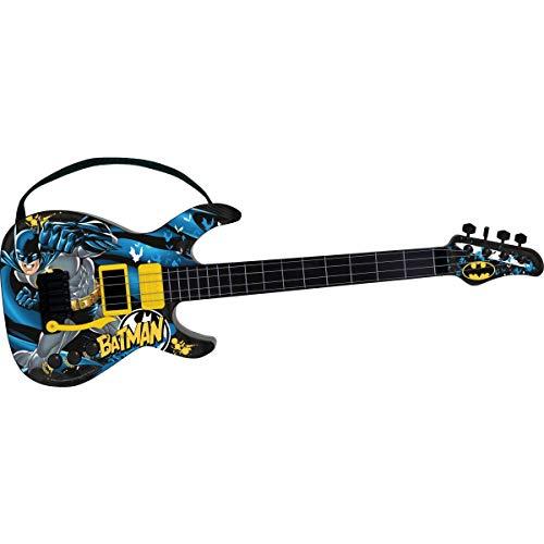 Guitarra Infantil Cavaleiro das Trevas Batman Azul