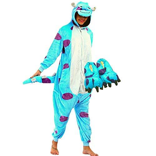 Kit Pijama e Pantufa Sullivan Fantasia Kigurumi Sulley Monstros SA Tamanho: M 1,56-1,66
