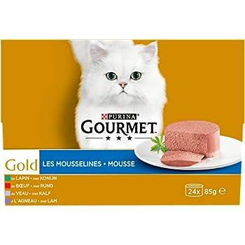 GOURMET - Les Mousselines : Lapin, Boeuf, Veau, Agneau - 24x85g - Lot de 4