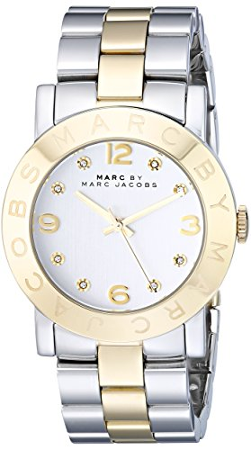 Marc by Marc Jacobs Amy Silver Dial Two Tone Stainless Steel Women