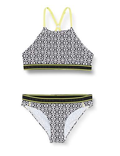 Schiesser Mädchen Highneck-Bikini Badebekleidungsset, Schwarz (Schwarz-Gem. 006), (Herstellergröße: 140)