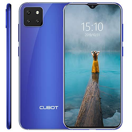 CUBOT X20 Smartphone 6.3 Pollici Tripla Fotocamere Android 9 Pie 4GB 64GB 4000mAh Octa-core Dual SIM Supporto Face ID 4G Cellulare Blu
