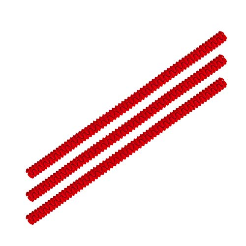 Conie Backofenschutzgitter aus Silikon, BPA-frei, schützt vor Verbrennungen, Ofenrost, 3 Stück L rot