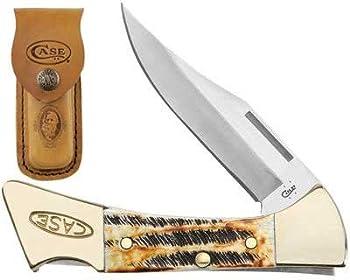 CASE XX WR Pocket Knife 6.5 Bonestag Mako W/Sheath Item #6921 -  6.5158L SS  - Length Closed  4 1/4 Inches