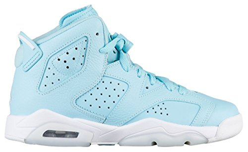 Nike Air Jordan 6 Retro Pantone - Still Blue Big Kids, Blau - Still Blue/White-white - Größe: 39 EU