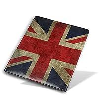 ブックカバー9x11 in UK-flag England ブックカバー 文庫 コンサイス 皮革調 手作り手帳 日記帳 システム手帳 アンティーク ブックカバー 詰め替えレザートラベルジャーナル執筆日記 卒業記念品