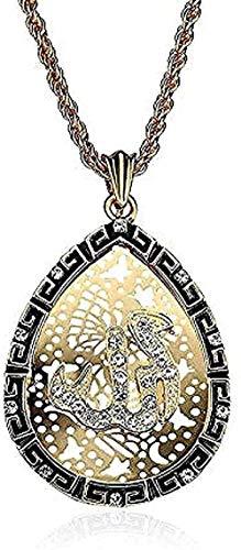 ZJJLWL Co.,ltd Collar musulmán religión tótem Corán un Juego de Diamantes Gota de Aceite Collar religioso Regalo para Mujeres Hombres Regalo