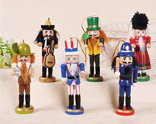 Sgualie Home Decoratie 13cm Notenkraker Puppet Man Beeldje Houten Notenkraker Soldaat Sculptuur