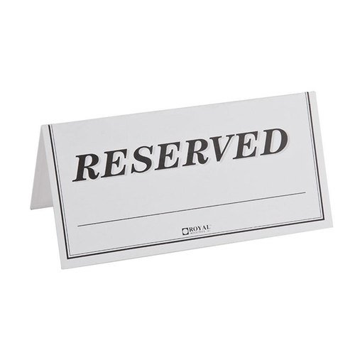 Pack of 250 Paper Table Reserved Sign