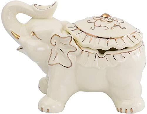 Porte-bébé HZYD Céramique Cendrier Baby Elephant Cendrier Ornements créatif européen Céramique Accueil Salon Kyman