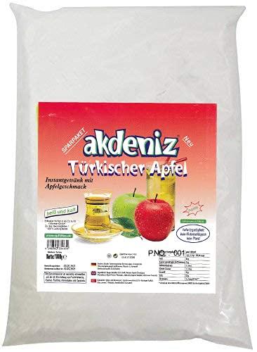 Akdeniz Türkisches Instantgetränk mit verschiedenen Geschmäcker 1KG (Roter Apfel)