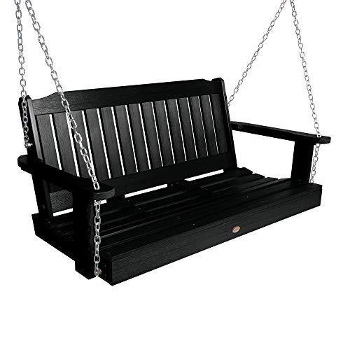 Highwood AD-PORL2-BKE Lehigh Porch Swing, 4 Feet, Black