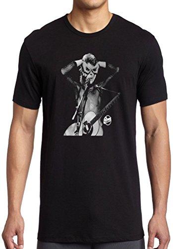 Emoci?n ropa hombres de David Bowie ac?stica retro vintage con licencia camiseta