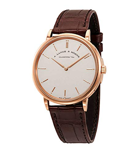 A. Lange & Sohne Saxonia Thin Manual Wind Silver Dial Brown Leather Men's Watch 211.032