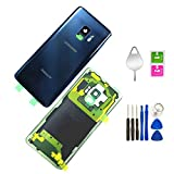 Galaxy S9 Compatible Back Glass Cover Back Door Waterproof Assembly Replacement Pre-Installed Camera Lens and Frame for Samsung Galaxy S9 OEM - All Models G960 All Carriers + with Tools (Coral Blue)