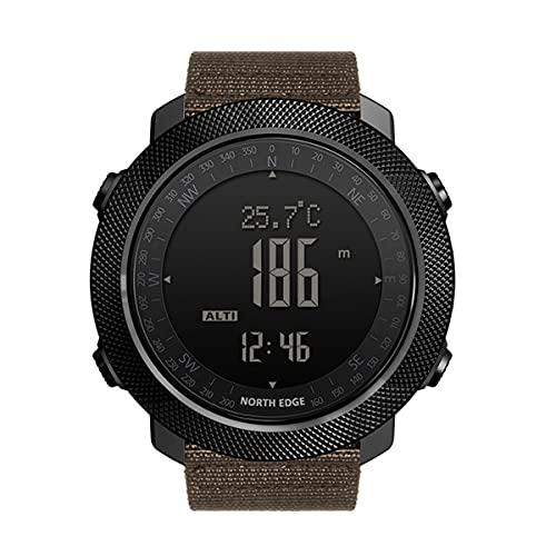QNMM Hombres Deportes Inteligente Reloj 50M Impermeable Al Aire Libre del Deporte del Reloj Digital Corrientes de Los Deportes Natación Hombres del Reloj del Compás Militar Barómetro Altitud
