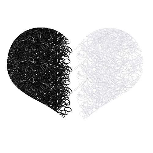 JinYu 2000 Pieces Elastic Hair Bands, Girl Kids Hair Holder Hair Tie Elastic Rubber Bands – Black and White