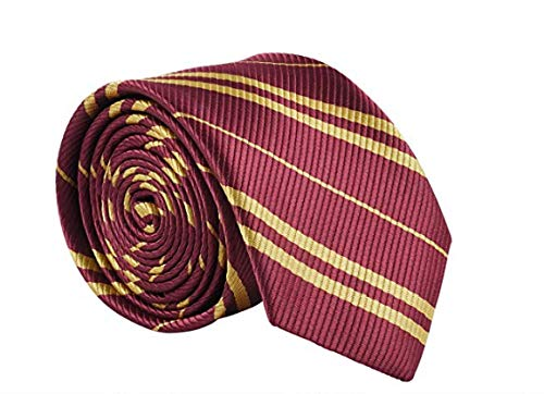 Besmon Cosplay Tie for HARR Halloween Birthday Party Costume Accessory Burgundy Necktie