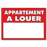 Panneau'Appartement à louer' - PVC alvéolaire AKYLUX 3.5mm - 80x60cm (Rouge)