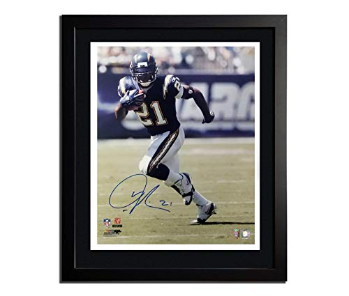 "Ladanian Tomlinson of the San Diego Chargers Autographed Photo in a 20""x24"" Frame Photograph Double Matted Museum Quality Custom 20""x24"" Framed with COA"
