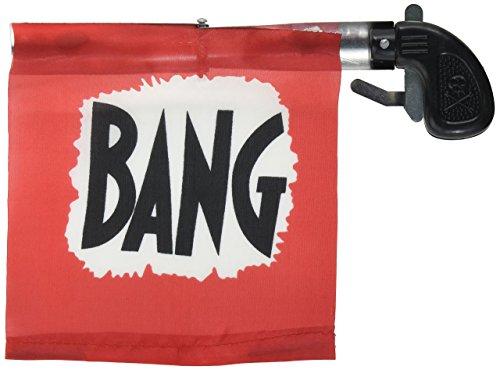 Loftus Star Power Starter Prank Bang Gun Flag Pistol, Red/Black/White, 5\