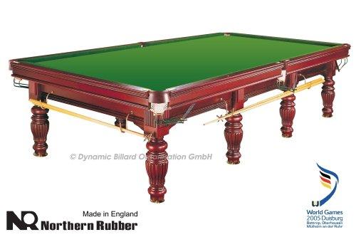Billardtisch Dynamic Prince, 12 ft. (Fuß), mahagoni, Snooker