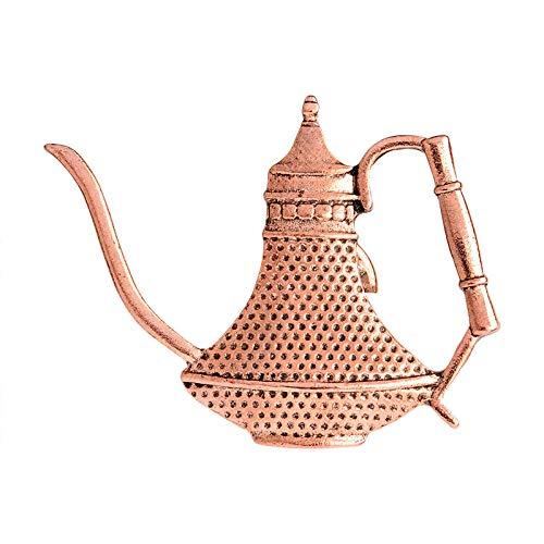 Zxx17 Kaffeekanne Abzeichen, japanische Langen Mund feinen Mund Hand Punch Pot Retro Kaffeetasse Pflege Tasse Brosche @ C