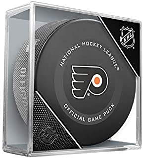 Philadelphia Flyers Inglasco Official NHL Game Puck in Cube - New 2019