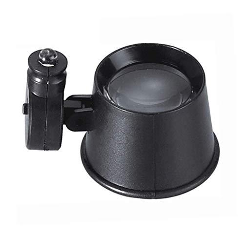 Wxxdlooa Oogmasker Vergrootglas LED Lichtstrip Klok Reparatie Vergroot Spiegel Reparatie Spiegel