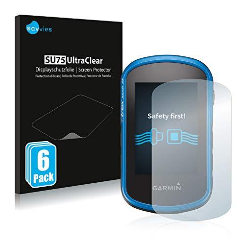 savvies Protector Pantalla Compatible con Garmin eTrex Touch 35 (6 Unidades) Pelicula Ultra Transparente
