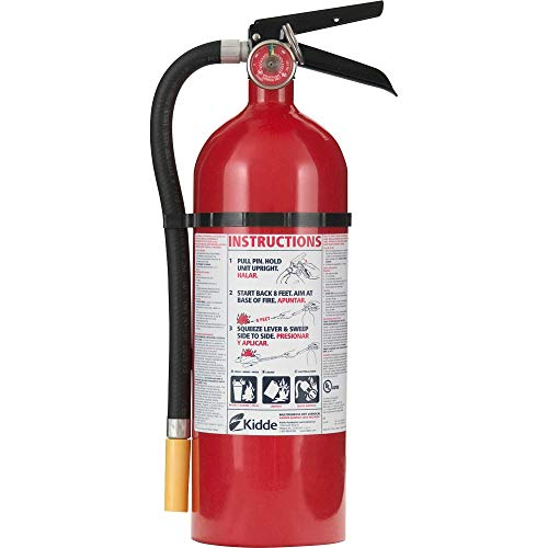 Kidde 466112 ABC Pro Multi-Purpose Dry Chemical Fire Extinguisher, UL rated 3-A, 40-B:C, Easy to Read Gauge, Easy to Pull Safety Pin