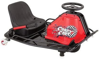 Razor Crazy Cart - 24V Electric Drifting Go Kart - Variable Speed, Up to 12 mph, Drift Bar for Controlled Drifts