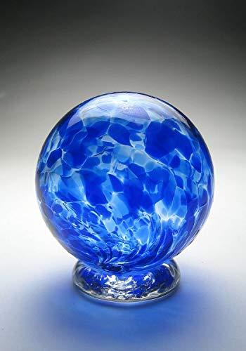 Handblown Wishing and Gratitude Globe (Sapphire Blue)