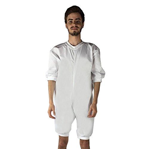 Pijama antipañal de sarga (verano), manga y pierna corta. talla L ✅