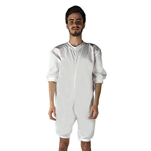 Pijama antipañal de sarga (verano), manga y pierna corta. talla XL