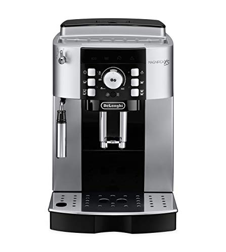 De'Longhi Magnifica XS Fully Automatic Espresso Machine with Manual Cappuccino System, 9.4 x 17 x 13.8 inches, SILVER AND BLACK