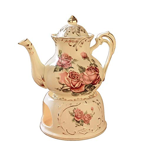 Chinese Tea Pot With Heat Base Use General Candle Tea Set Fashion Coffee Kettle Thermostat Ceramic Warm 900 Ml Teapot