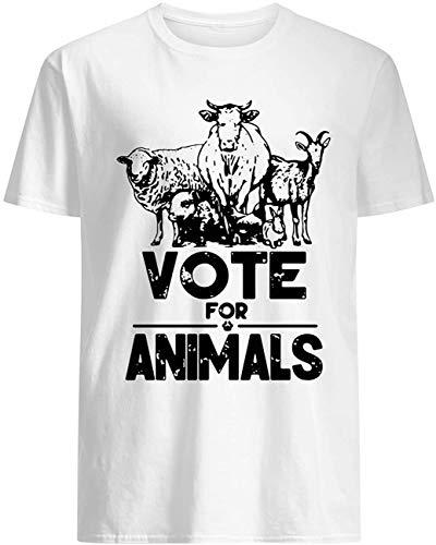 Vote for Animals 2020 President T-Shirt_WhiteL011