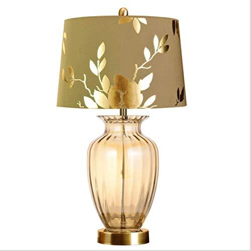 kerryshop Lámparas Lámpara Europea Tabla Dormitorio lámpara de cabecera de Lujo de Estar Tamaño de la lámpara Minimalista Moderno de la Sala de Bodas Luces Regulables Lámpara de Mesa