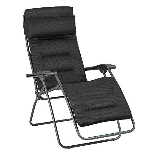 Lafuma Fauteuil Relax, Pliable et réglable, RSX Clip, Air Comfort, Couleur: Acier, LFM2038-6185